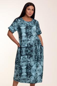 Бирюзовое платье с принтом тай дай Modellini